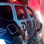 Policial fica ferido após acidente de transito em Fortaleza
