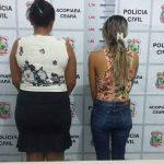 Policia Civil de Acopiara prende duas mulheres e apreende armas