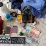 """Policia estoura """"Boca de Fumo"""" e prende cinco pessoas em Acopiara"""