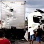 Colisão entre caminhões deixa uma pessoa ferida em Tabuleiro do Norte