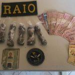 Dois homens são presos em Mombaça e autuados por tráfico de drogas