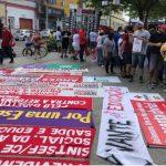 Movimentos sindicais bloqueiam trânsito em protesto contra Reforma da Previdência