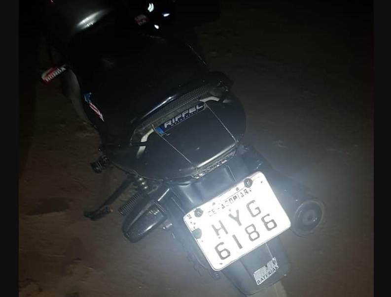Homem rouba moto em Acopiara e é preso minutos depois pelo Raio