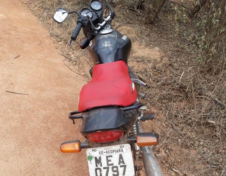 ACOPIARA-CE: RECUPERAÇÃO DE VEÍCULO FURTADO (MOTOCICLETA)