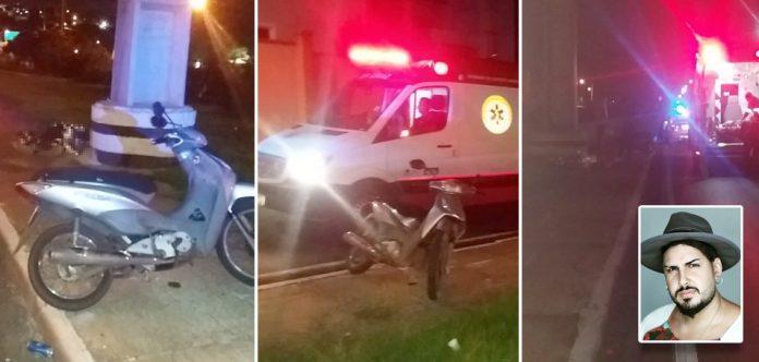 Cantor sertanejo morre após bater motocicleta em poste na volta de show em Cuiabá